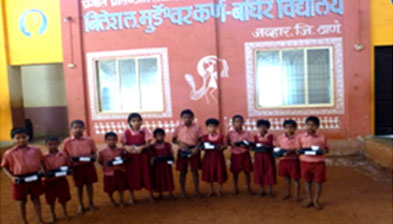 Aastha 3 - Hearing aid instruments for deaf & mute children at Ashram school Jawhar