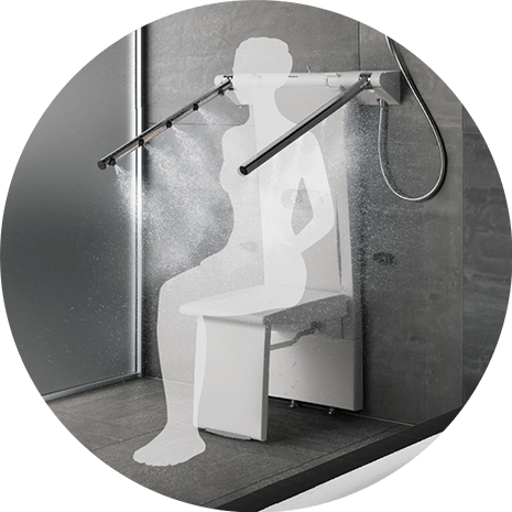 Seated Shower