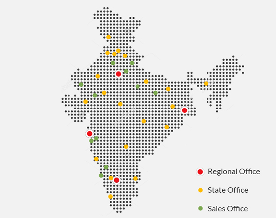 Anchor office locations India Map