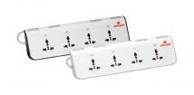 4 Universal Socket with Individual Switch and Indicator