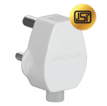 16A, 3 Pin Super Top Plug Tops - Features, Specifications Online India - Anchor by Panasonic