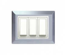Roma Roma Victorian SS-  Solid Metal Plate (with white frame) Features, Specifications - Solid Metal Plates Online India - Panasonic Life Solutions India