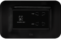 Roma 20VA, Shaver Socket with Transformar (With 4M Curvy Plate), Black Features, Specifications - Hospitality Range  Online India - Panasonic Life Solutions India