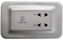 Roma 20VA, Shaver Socket with Transformer (With 4M Curvy Plate), Silver Features, Specifications - Hospitality Range  Online India - Panasonic Life Solutions India