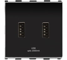 Roma USB Charger, Dual Port, 2.1A, 5V,  2MFeatures, Specifications - Support Module Online India - Anchor by Panasonic