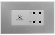 Roma 20VA, Shaver Socket with Transformer (With 4M Square Plate), Silver - Features, Specifications - Hospitality Range  Online India - Anchor by Panasonic