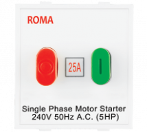 Roma White Roma White, 25A, Motor Starter Switch-Overload Switch - Features, Specifications - ROMA CLASSIC SWITCHES Online India - Anchor by Panasonic