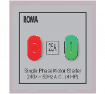 Roma  Roma Silver, 25A, Motor Starter Switch	 Features, Specifications - ROMA CLASSIC SWITCHES Online India - Panasonic Life Solutions India