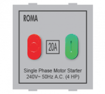 Roma Silver Roma Silver, 20A, Motor Starter Switch  - Features, Specifications - ROMA CLASSIC SWITCHES Online India - Anchor by Panasonic