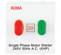 Roma Roma White, 20A, Motor Starter Switch-Overload Switch - Features, Specifications - ROMA CLASSIC SWITCHES Online India - Anchor by Panasonic