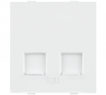Roma White Roma White,  RJ 11, Telephone Jack Double With Shutter  - Features, Specifications - Support Module Online India - Anchor by Panasonic