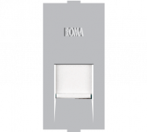Roma Silver Roma Silver, RJ 11, Telephone Jack Single With Shutter  - Features, Specifications - Support Module Online India - Anchor by Panasonic