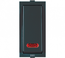 Roma Black Roma Black, 10AX, 1 Way Switch With Neon - Features, Specifications - ROMA CLASSIC SWITCHES Online India - Anchor by Panasonic