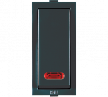 Roma Roma Black, 20A, 1 Way Switch With Neon - Features, Specifications - ROMA CLASSIC SWITCHES Online India - Anchor by Panasonic