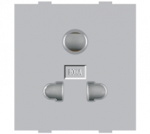 Roma Roma Silver, 10A,  Uni D Socket - Features, Specifications - Sockets Online India - Anchor by Panasonic