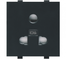 Roma Black Roma Black, 10A, Uni D Socket - Features, Specifications - Sockets Online India - Anchor by Panasonic