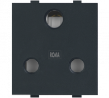 Roma Black Roma Black, 16A, 3 Pin Socket - Features, Specifications - Sockets Online India - Anchor by Panasonic