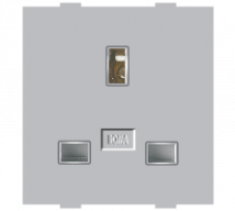 Roma Silver Roma Silver, 13A, Flat Pin English Socket - Features, Specifications - Sockets Online India - Anchor by Panasonic