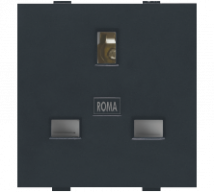 Roma Silver Roma Black, 13A, Flat Pin English Socket - Features, Specifications - Sockets Online India - Anchor by Panasonic