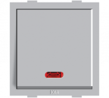 Roma Silver  Roma Silver, 20A, 1 Way Switch With Neon - Features, Specifications - ROMA CLASSIC SWITCHES Online India - Anchor by Panasonic