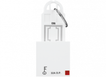 Roma White Roma White, 32A, D.P Main Switch with Key Ring Tag 2 Module - Features, Specifications - Hospitality Range Online India - Anchor by Panasonic