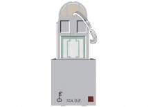 Roma Silver, 32A, D.P Main Switch with Key Ring Tag, 2 Module