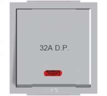 Roma Silver Roma Silver, 32A, D.P, 1 Way Switch With Neon - Features, Specifications - ROMA CLASSIC SWITCHES Online India - Anchor by Panasonic
