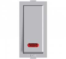 Roma Silver  Roma Silver,  25A, S.P, 1 Way Switch With Neon Features, Specifications - Sockets Online India - Panasonic Life Solutions India