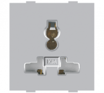 Roma Roma Silver, 13A 10A & 6A, Combi Socket For All Pins - Features, Specifications - Sockets Online India - Anchor by Panasonic