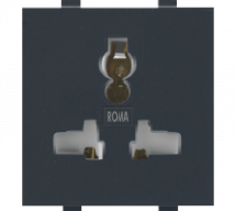Roma Roma Black, 13A/10A/6A Combi Socket For all Pins - Features, Specifications - Sockets Online India - Anchor by Panasonic