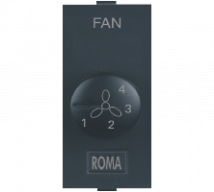 Roma Roma Black, Fan Step Regulator Tiny EME 100W - Features, Specifications - Fan Regulators and Dimmers Online India - Anchor by Panasonic