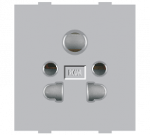 Roma Silver Roma Silver, 10A, Multi Socket for Cell Phone Pin or 2Pin & 3 Pin - Features, Specifications - Sockets Online India - Anchor by Panasonic