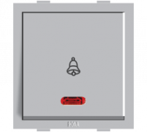 Roma Silver Roma Silver, 10 A, Bell Push Switch With Neon - Features, Specifications - ROMA CLASSIC SWITCHES Online India - Anchor by Panasonic