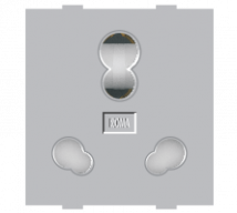 Roma Roma Silver, 25A & 10A, Twin Socket (Heavy Duty) - Features, Specifications - Sockets Online India - Anchor by Panasonic
