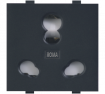 Roma Black Roma Black, 20 & 10A, Twin Socket - Features, Specifications - Sockets Online India - Anchor by Panasonic