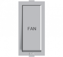 Roma Silver Roma Silver, 10AX, 1Way Switch with Fan Mark  - Features, Specifications - ROMA CLASSIC SWITCHES Online India - Anchor by Panasonic