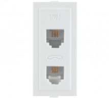 Roma White Roma White, RJ 11, Telephone Jack Double W/o Shutter  - Features, Specifications - Support Module Online India - Anchor by Panasonic
