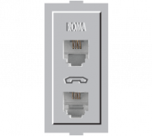 Roma Silver Roma Siliver, RJ 11, Telephone Jack Double W/o Shutter  - Features, Specifications - Support Module Online India - Anchor by Panasonic