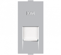 Roma Roma Silver, RJ 45, Computer Socket Cat 6 - Features, Specifications - Support Module Online India - Anchor by Panasonic