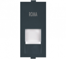 Roma Roma Black, RJ 45, Computer Socket Cat 6  - Features, Specifications - Support Module Online India - Anchor by Panasonic