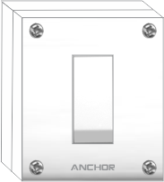 Capton Series 20A, 1 Way Switch With Box | Anchor Electricals