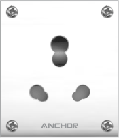 Capton Series 20A,Uni Socket With Box | Anchor Electricals