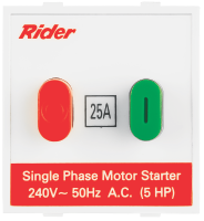 Rider Motor Starter Switch Single Phase Features, Specifications - Switches Online India - Panasonic Life Solutions India