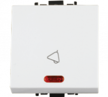 Woods 10A Bell Push Switch with Indicator Large	 - Features, Specifications - Switches Online India - Anchor by Panasonic