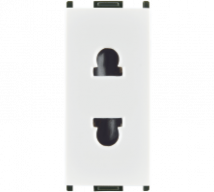 Woods 6A 2 pin URO Socket - Features, Specifications - Sockets Online India - Anchor by Panasonic