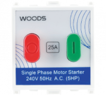 Woods 25A Motor Starter Switch  Features, Specifications - Switches Online India - Panasonic Life Solutions India