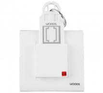 Woods 32A D.P Switch Operate Key Ring Tag PC( With Frame or Front Plate) 2 Module (Complete Unit) - Features, Specifications - Hospitality Range Online India - Anchor by Panasonic