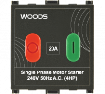 Woods 20A Motor Starter Switch Features, Specifications - Switches Online India - Panasonic Life Solutions India