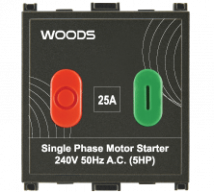 Woods 25A Motor Starter Switch - Features, Specifications - Switches Online India - Anchor by Panasonic