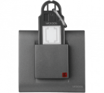 Woods 32A D.P Switch Operate By Key Ring Tag PC(With Frame and front Plate) Features, Specifications - Hospitality Range Online India - Panasonic Life Solutions India